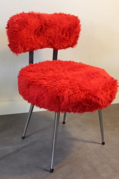 chaise moumoute by pelfran so vintage vintage by fabichka. Black Bedroom Furniture Sets. Home Design Ideas