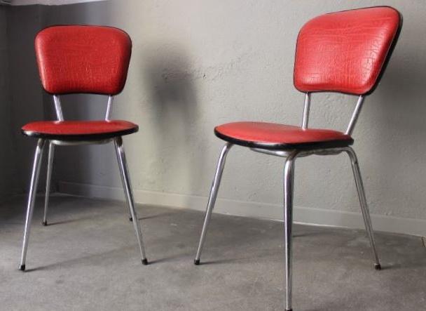 chaises mariant le ska et le chrome 1960. Black Bedroom Furniture Sets. Home Design Ideas