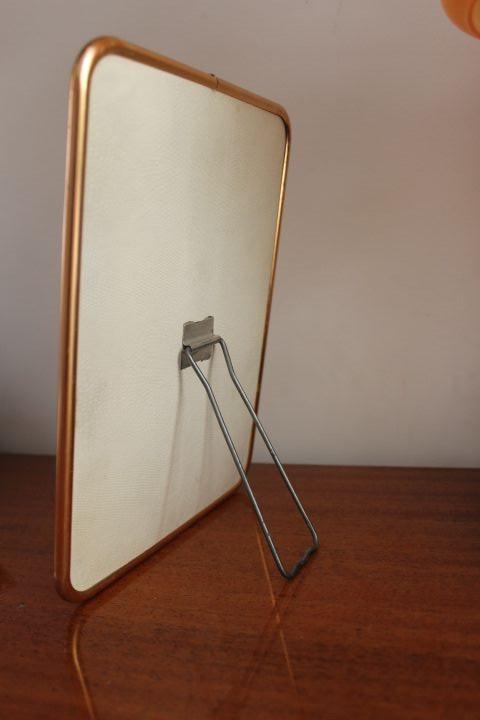 miroir de barbier cerclage m tal ros 1950 vintage by fabichka. Black Bedroom Furniture Sets. Home Design Ideas